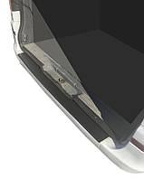 Mercedes Viano 2004-2015 гг. Накладка на задний бампер с загибом DDU (пластик) Матовая