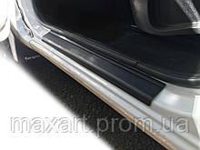 Renault Kangoo 2008-2019 гг. Накладки на пороги DDU (2 шт, пласт)