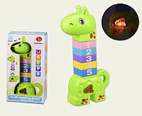 Детская Музыкальная Развивающая Игрушка 2в1 Пирамидка для детей B.Bely (Green)