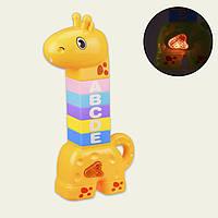 Десткая Музыкальная Пирамидка 2в1 Развивающая Игрушка для детей B.Bely (Yellow)