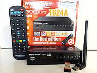 Цифровой Т2 тюнер WorldVision T624А+ Интернет+IPTV+ YouTube+ AC3+WiFi адаптер