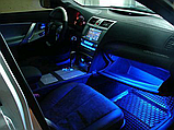 Светодиодная подсветка для авто водонепроницаемая RGB led HR-01678 8 цветов 4 ленты, фото 10