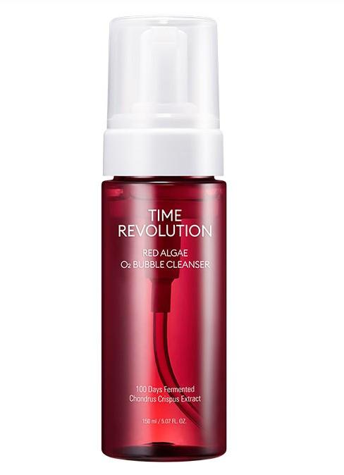 Увлажняющая пенка для умывания Missha Time Revolution Red Algae O2 Bubble Cleanser