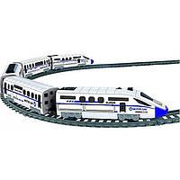 Крутая детская игрушечная интерактивная железная дорога 2183 со светом со звуком длиной 457 см