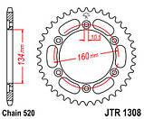 Звезда задняя стальная JT JTR1308.42 JT Sprockets, фото 2