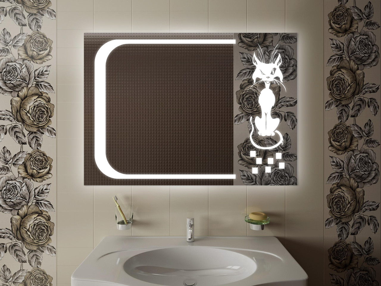 Зеркало LED (98*70*3см) VZ-D47