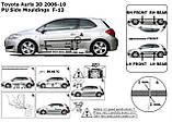 Молдинги на двери для Toyota Auris 3dr 2006-2013, фото 9