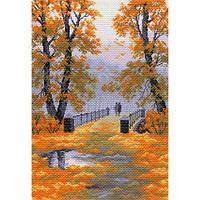 1565 Осень в парке. Матренин Посад. Набор для вышивания нитками на канве с нанесенным рисунком