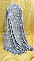 Плед-покрывало  флис  220*240 Звезды Серый, фото 1