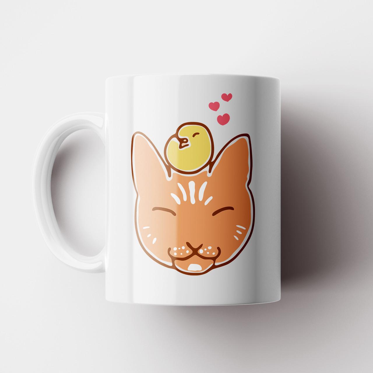 Чашка з котом. Чашка з принтом Кіт. Чашка з фото