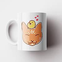 Чашка з котом. Чашка з принтом Кіт. Чашка з фото, фото 1