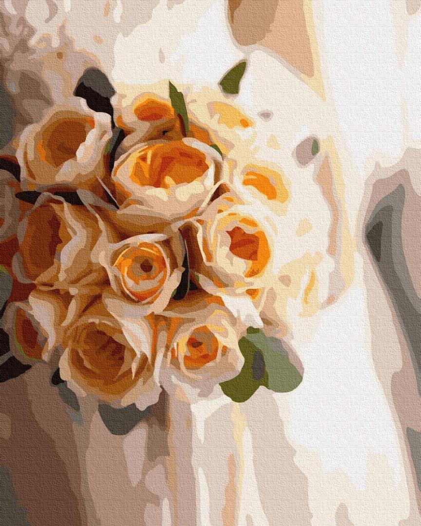 Картина по номерам. Букет персикового цвета , 40*50 см, Brushme, в коробке