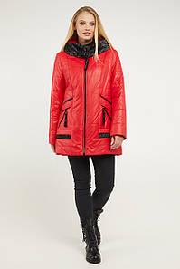 Женская красная весенняя куртка больших размеров 52-62