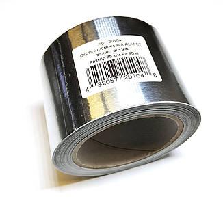 Скотч 75 мм (40 п. м.) фольгований алюмінієвий армований скотч AL+PET