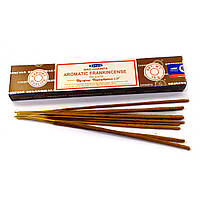 Aromatic Frankincense (Ароматный Ладан) (Satya) Индия - масала пыльцовое благовоние (12 шт /уп) (15 гр.)