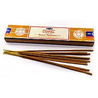 Copal (Янтарь) (Satya) Индия - масала пыльцовое благовоние (12 шт /уп) (15 гр.)