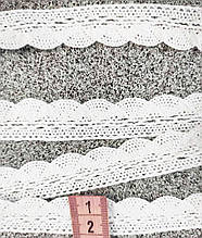 М073 Кружево хлопковое белое вязаное 2 см