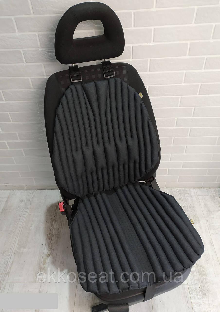 Ортопедическая эко подушка - накидка для автомобильного кресла EKKOSEAT. Универсальная.