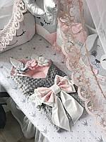 Фатиновый балдахин с облачком на детскую кроватку/ фатіновий балдахін з хмаринкою на дитяче ліжечко