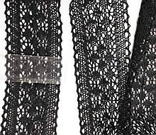 М077 Кружево хлопковое черное вязаное 6 см