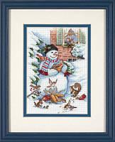 Набор для вышивания Dimensions 08801 Snowman and Friends Cross Stitch Kit