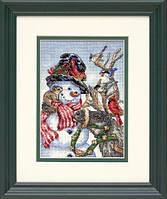 Набор для вышивания Dimensions Snowman and Reindeer Cross Stitch Kit