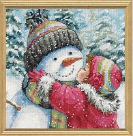 Набір для вишивання Dimensions 70-08833 A Kiss for Snowman Cross Stitch Kit