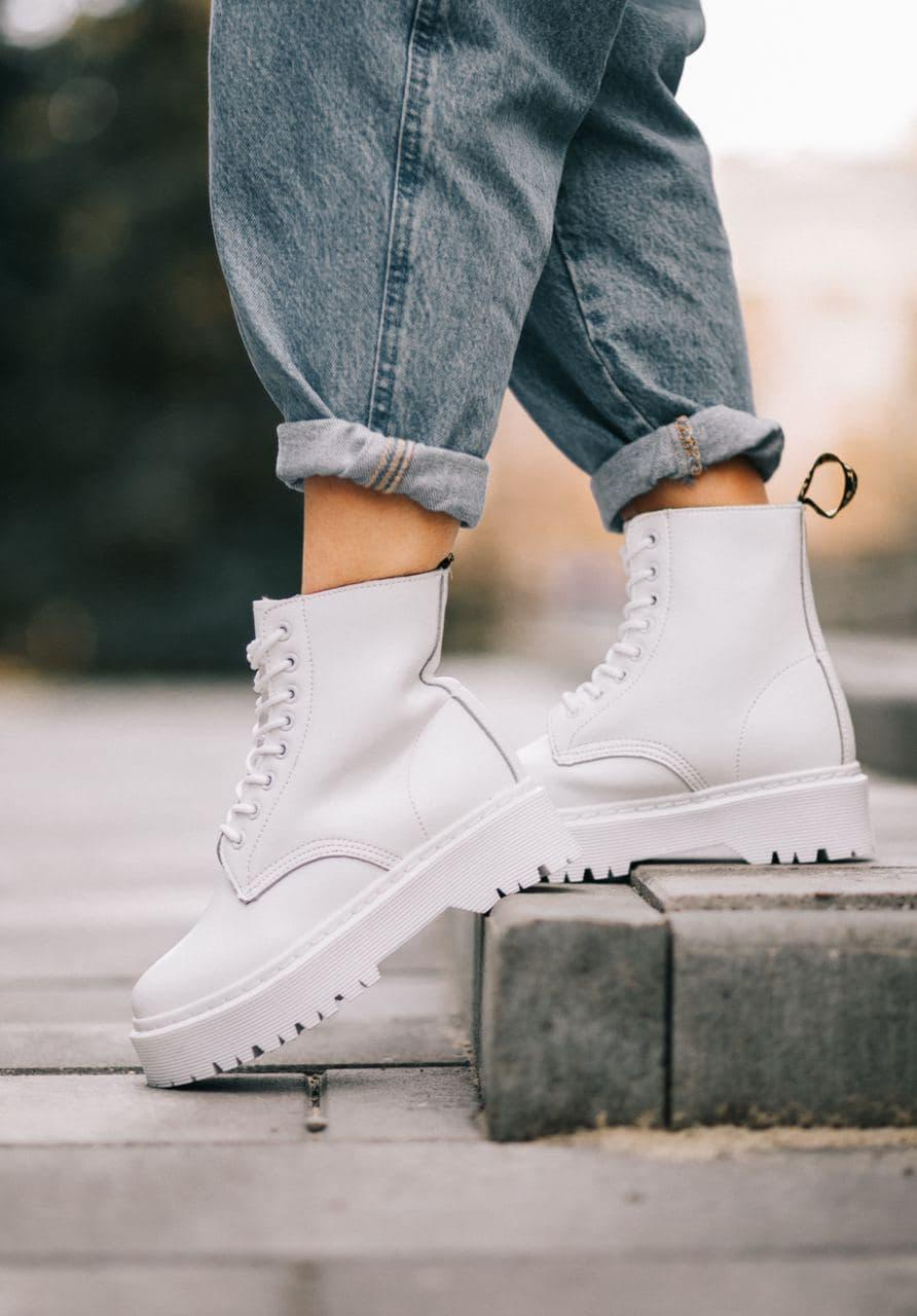 Женские ботинки Dr.Martens Jadon Mono White (MEX)