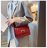 Яркая красная стильная сумка, фото 3