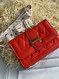 Яркая красная стильная сумка, фото 2