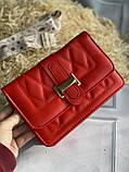 Яркая красная стильная сумка, фото 8