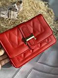 Яркая красная стильная сумка, фото 7