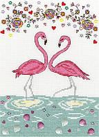 Набор для вышивания Love Flamingo XKA9