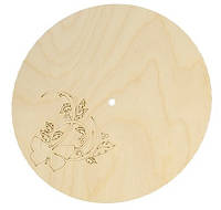 Циферблат часы Круг с бабочкой 24х24 см
