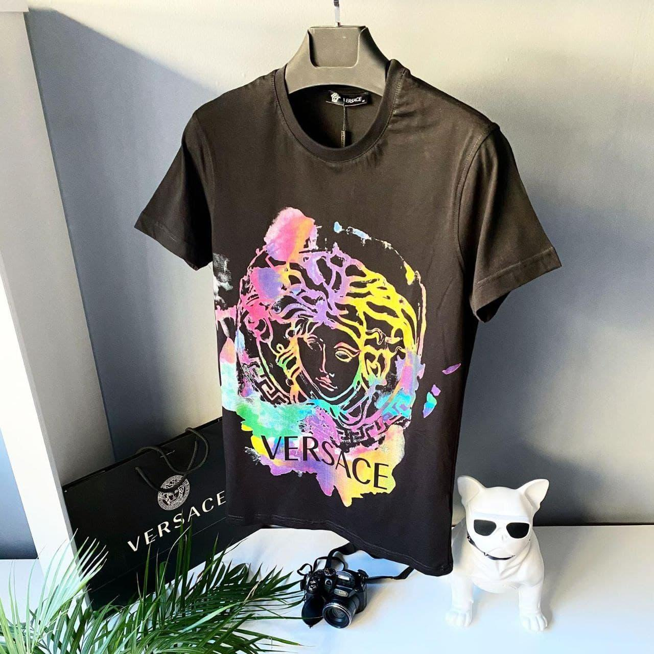 Мужская футболка Versace CK1778 черная