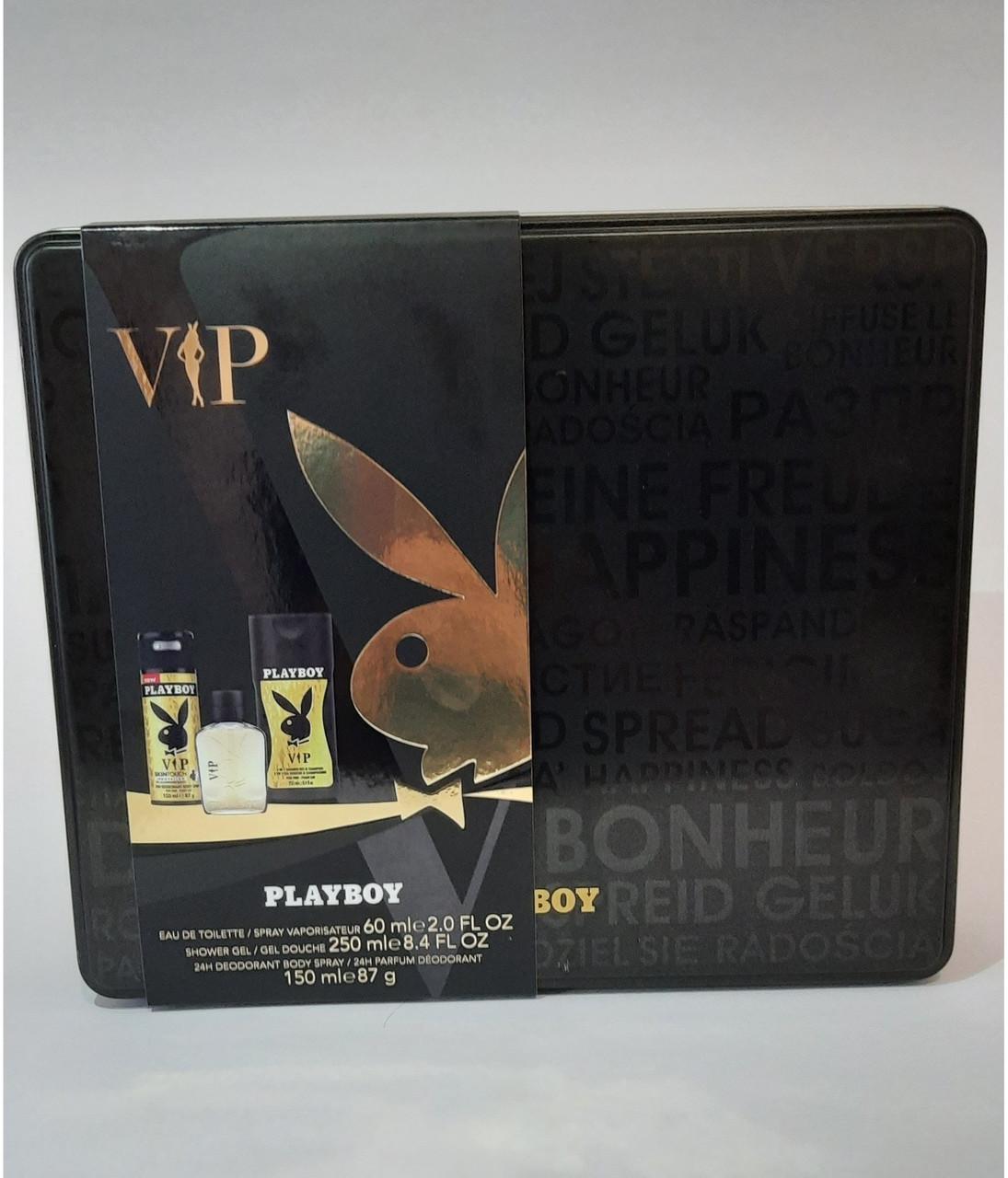 Набір парфумерний чоловічий Playboy VIP в металевій коробці