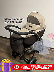 Детская коляска 2 в 1 Classik Len(Классик Лен) Victoria Gold Коричневый беж