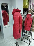 """Зимова Подовжена куртка """"Дельта"""", пляшковий колір, фото 3"""