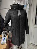 """Зимова Подовжена куртка """"Дельта"""", пляшковий колір, фото 4"""