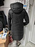 """Зимова Подовжена куртка """"Дельта"""", пляшковий колір, фото 8"""