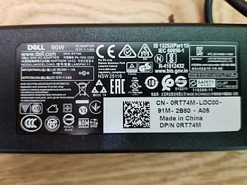 Блок питания для ноутбука Dell RT74M  90W 19.5V  4.62A 7.5*6.0mm (NEW) ОРИГИНАЛ