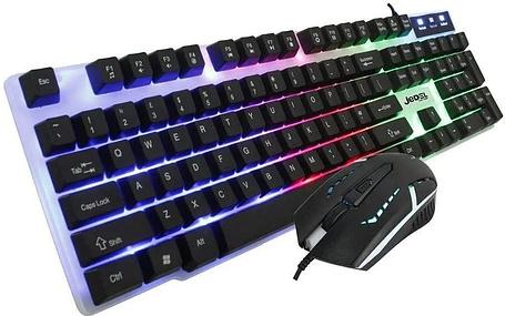 Клавиатура игровая с подсветкой Jedel COMBO GK100 геймерская keyboard для ПК компьютера и ноутбука, фото 2