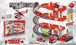 Гараж паркінг для дитячих машинок Мега парковка Metr+ 922-15 Ігровий набір 2 поверхи 2 машинки і вертоліт