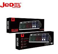 Клавиатура игровая с подсветкой Jedel COMBO GK100 геймерская keyboard для ПК компьютера и ноутбука