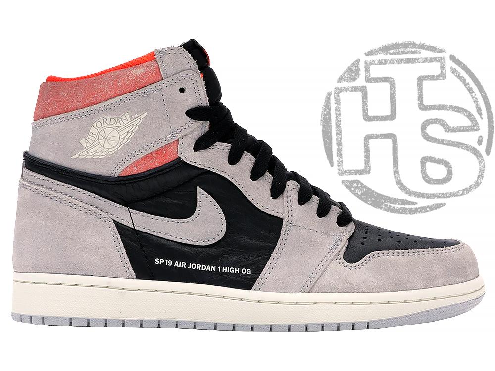 Чоловічі кросівки Air Jordan 1 Retro High Neutral Grey Hyper Crimson 555088-018