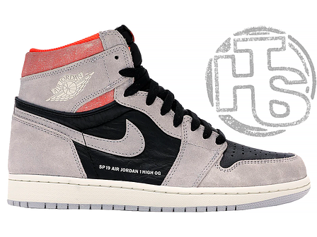 Чоловічі кросівки Air Jordan 1 Retro High Neutral Grey Hyper Crimson 555088-018, фото 2