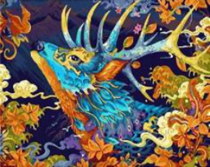 Картина по номерам на дереве 40*50 см с акриловыми красками