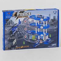 Гараж паркінг для машинок Ігровий набір Поліція 4 поверху, 2 машинки і вертоліт Звук, світло