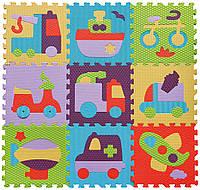 Коврик-пазл детский развивающий игровой Быстрый транспорт 92х92 см Baby Great