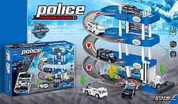 Гараж паркінг для машинок Ігровий набір Поліція 4 поверхи, 3 машинки Звук, світло